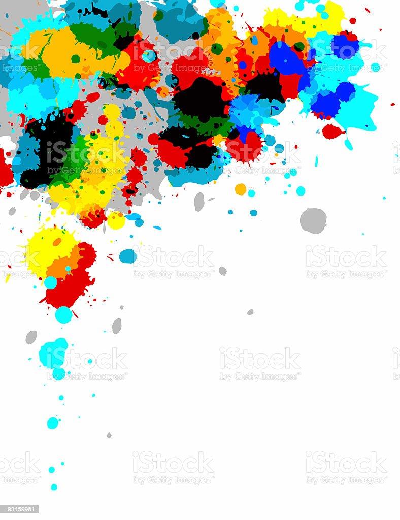 Abstract bright paint splash design royalty-free stock photo