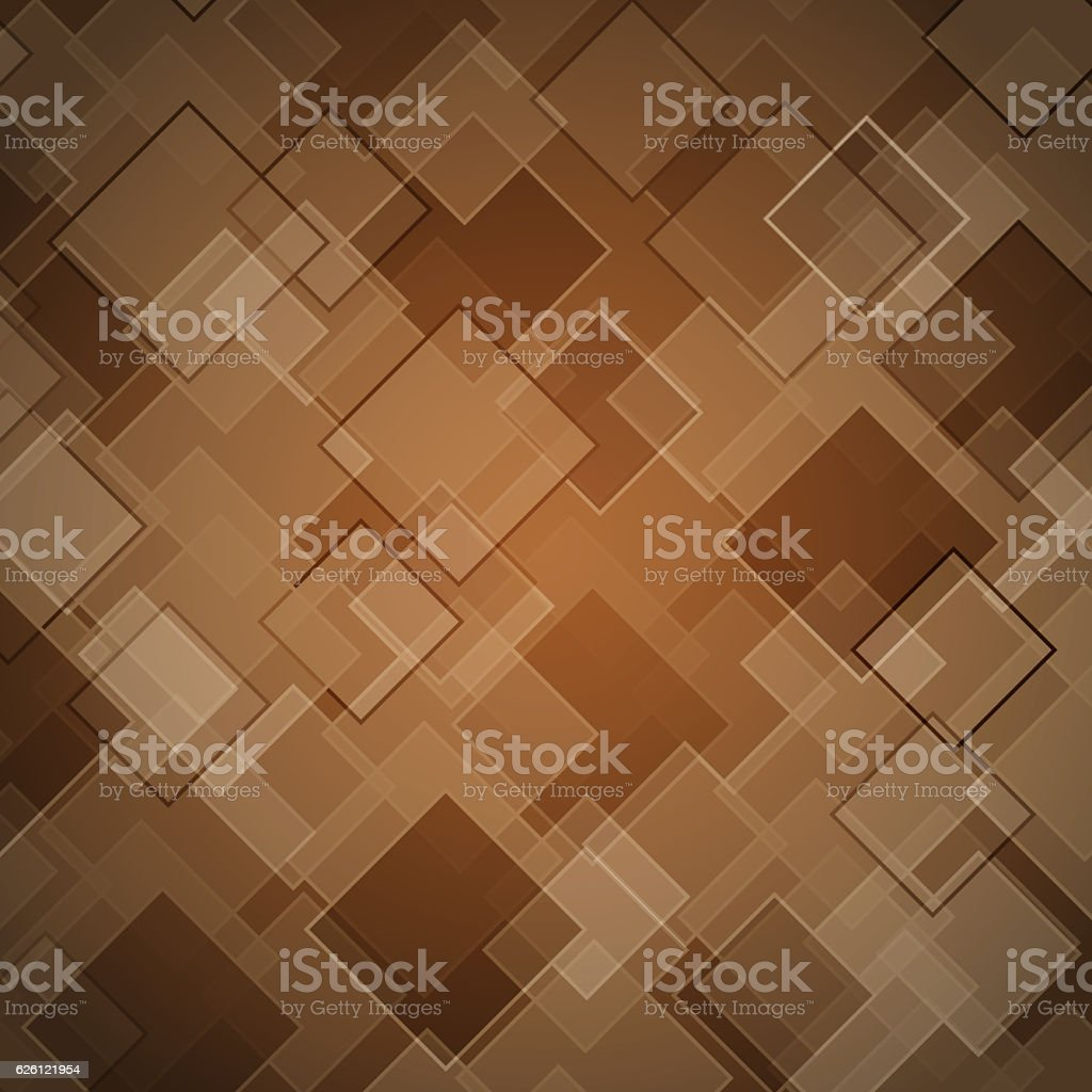 Abstract brown background with rhombus stock photo