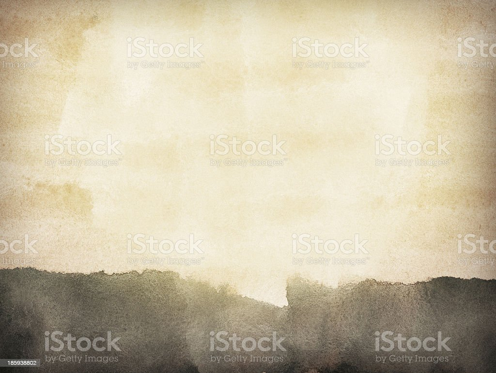 Abstract brown grunge watercolor background stock photo