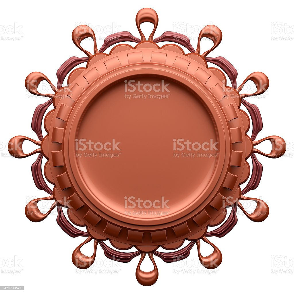 Abstract brown label royalty-free stock photo