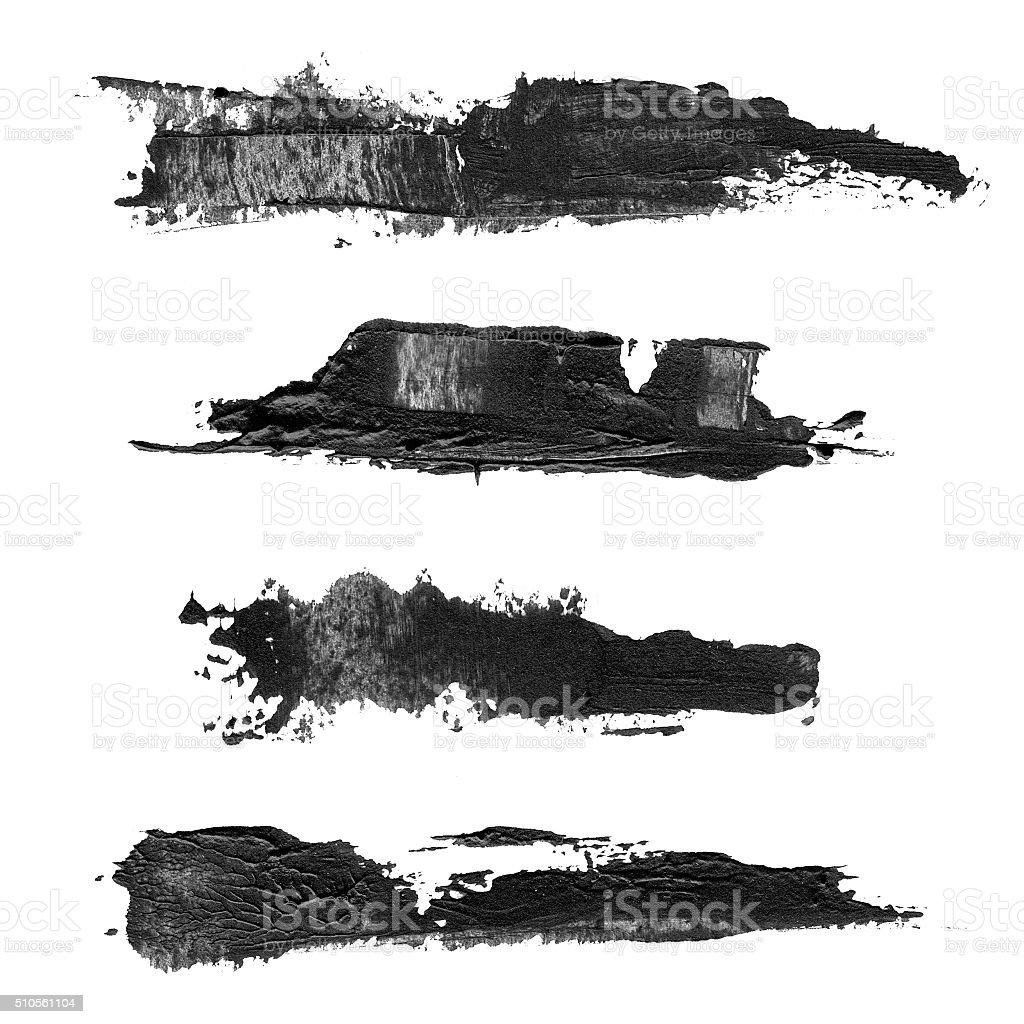 Abstract brush black acrylic stock photo