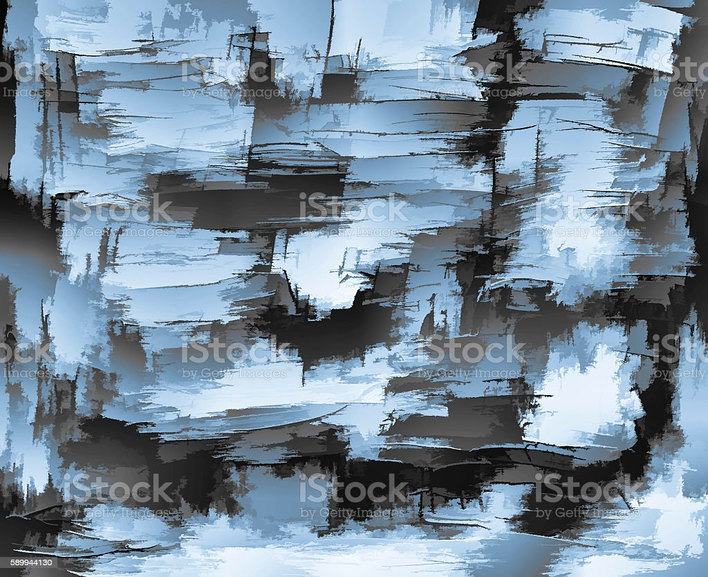 Abstract brush strokes painting on canvas stock photo