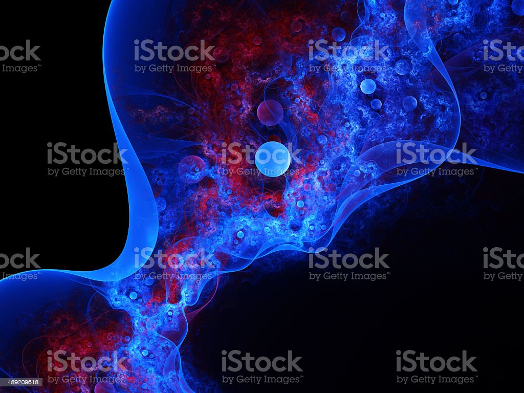 abstract bubble shapes on black background stock photo
