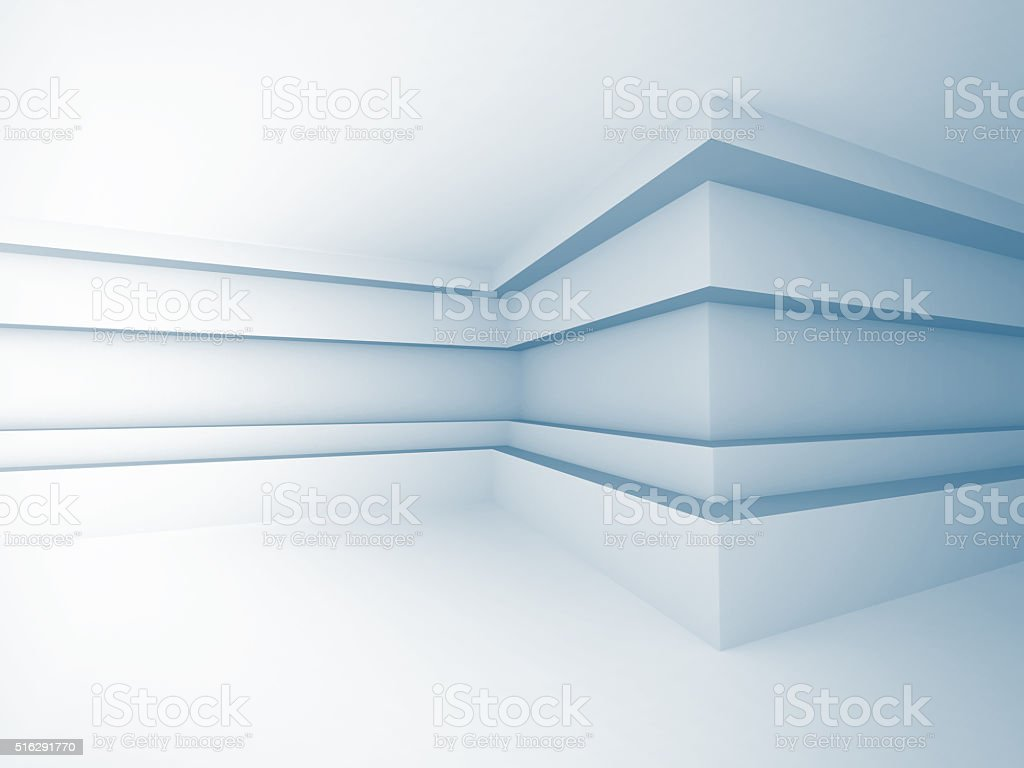 Abstract Building Construction. Corridor Wall Background stock photo