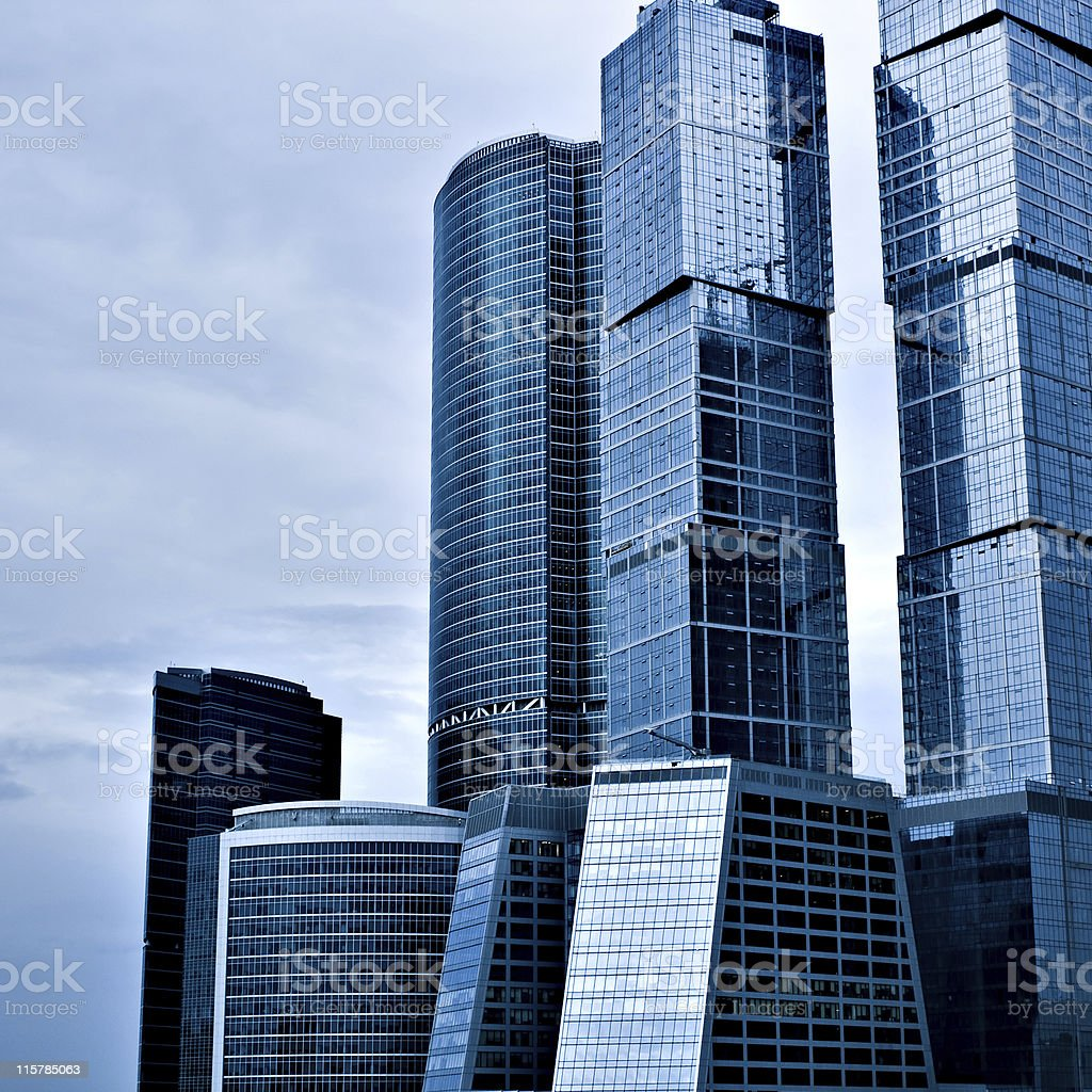 abstract building skyscrapers royalty-free stock photo
