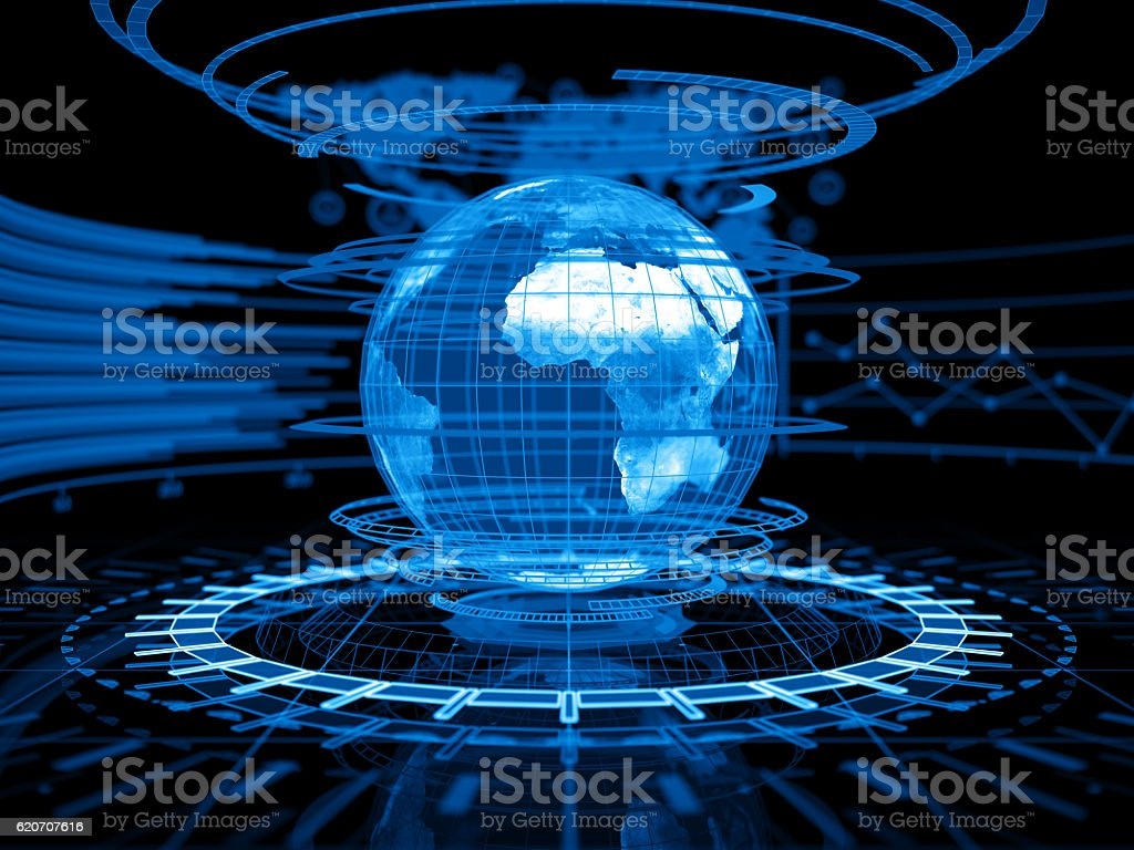 Abstract business concept and Network optimization stock photo