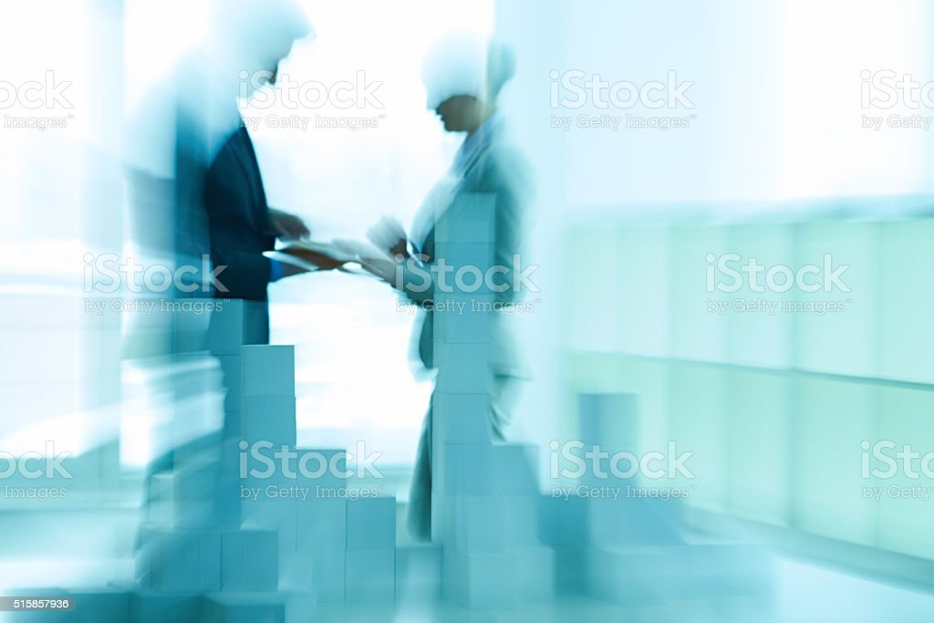 Abstract business cooperation stock photo