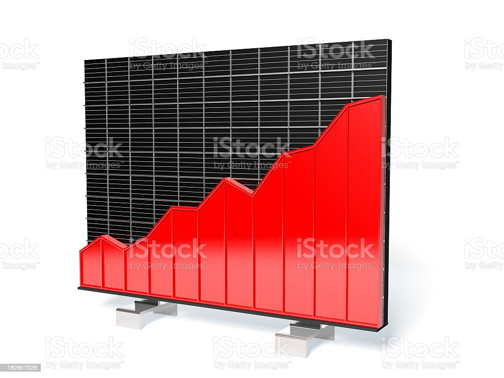Abstract business data graph with clipping path royalty-free stock photo