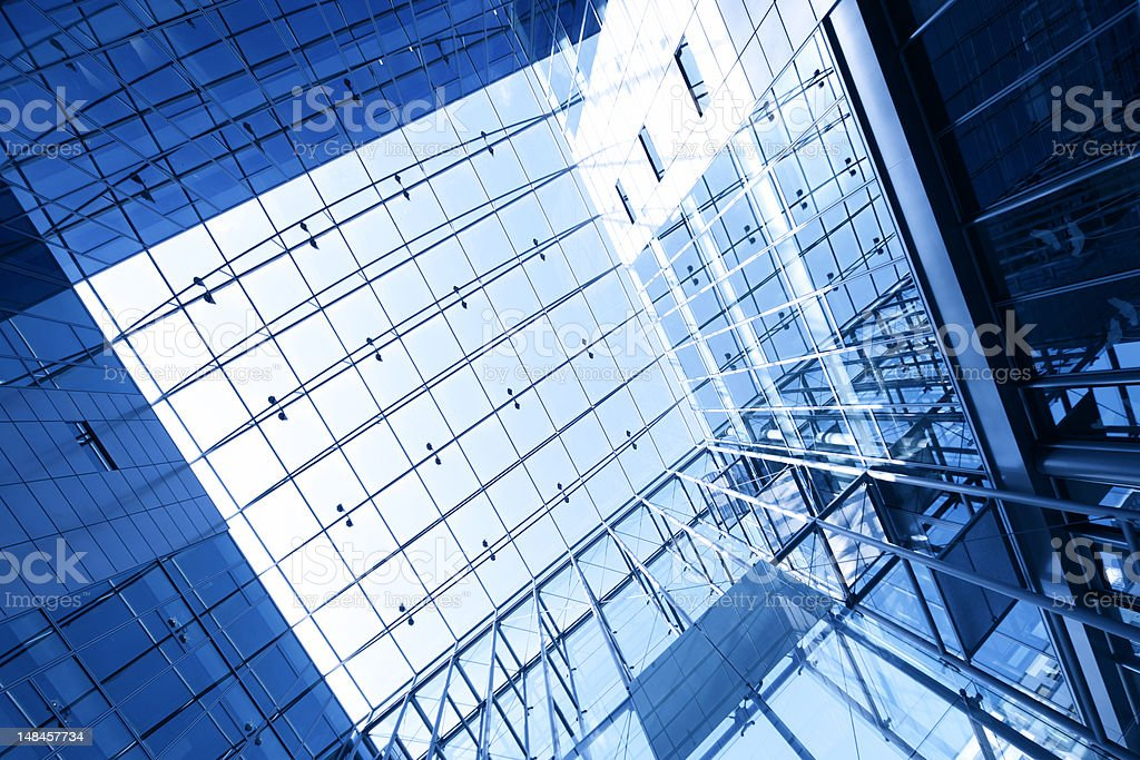 abstract business lobby stock photo