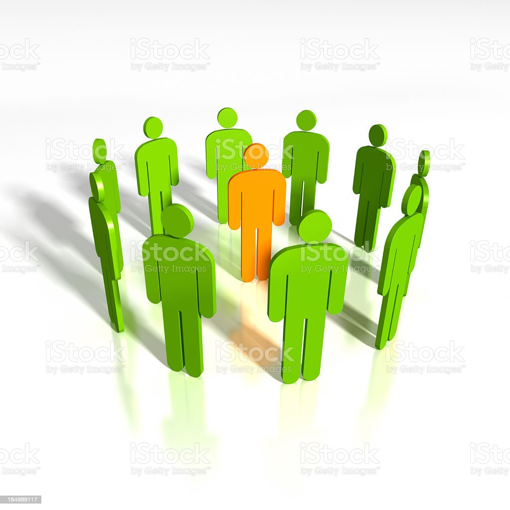 Abstract Business People royalty-free stock photo
