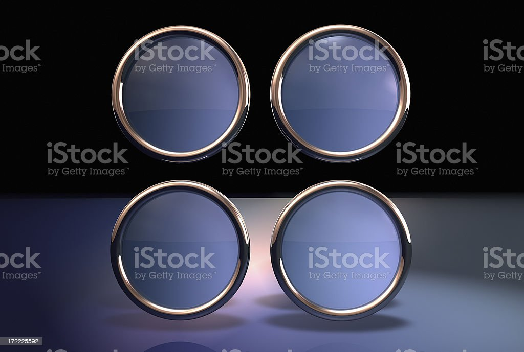 Abstract button four royalty-free stock photo