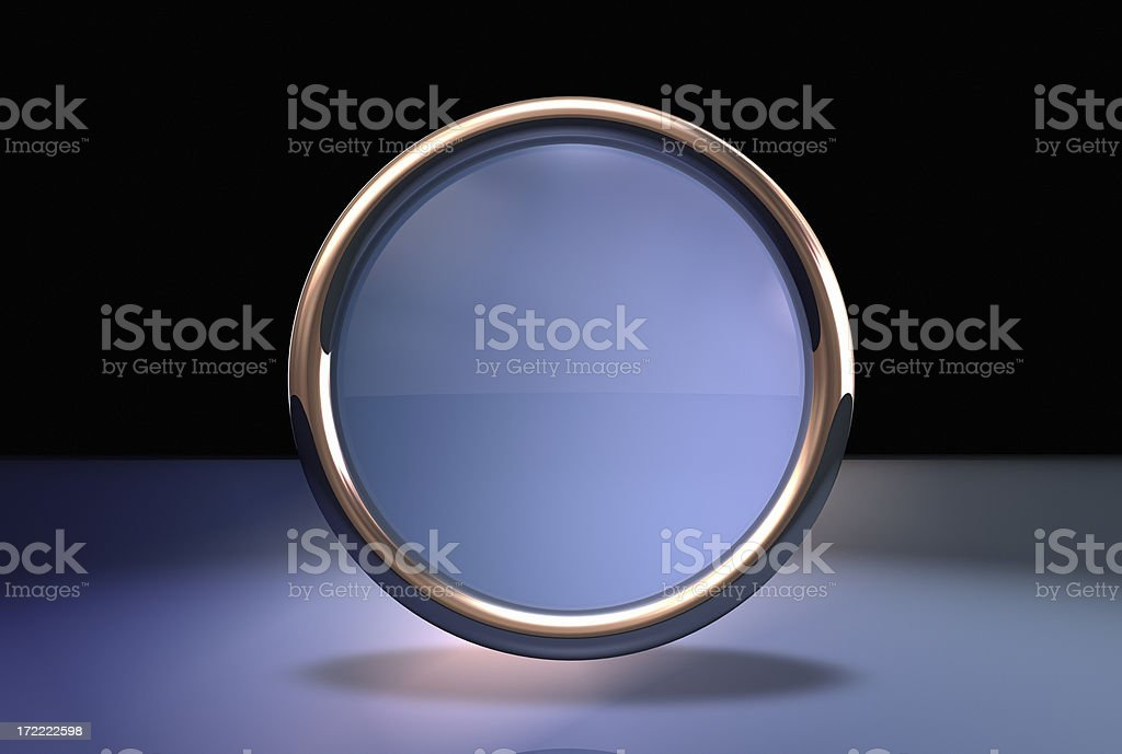 Abstract button one royalty-free stock photo