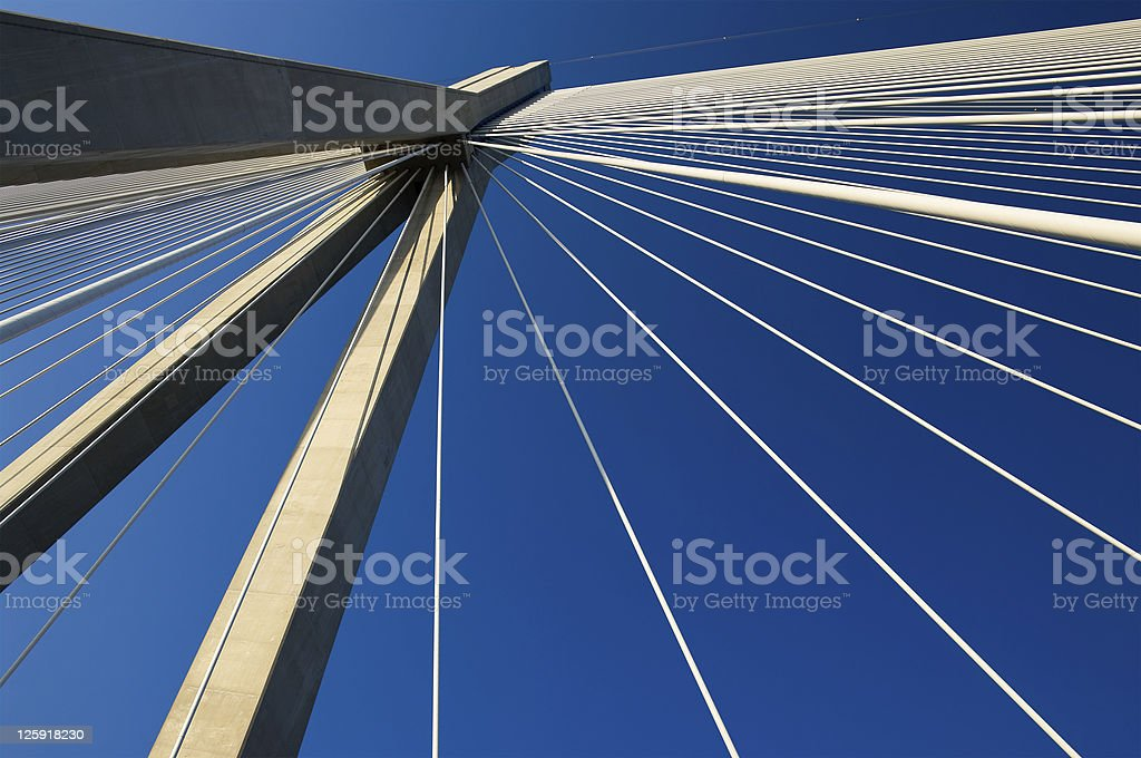 abstract cable suspension bridge royalty-free stock photo