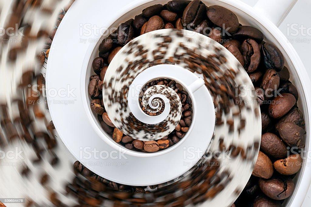 Abstract Caffeine Addiction Droste Effect. stock photo