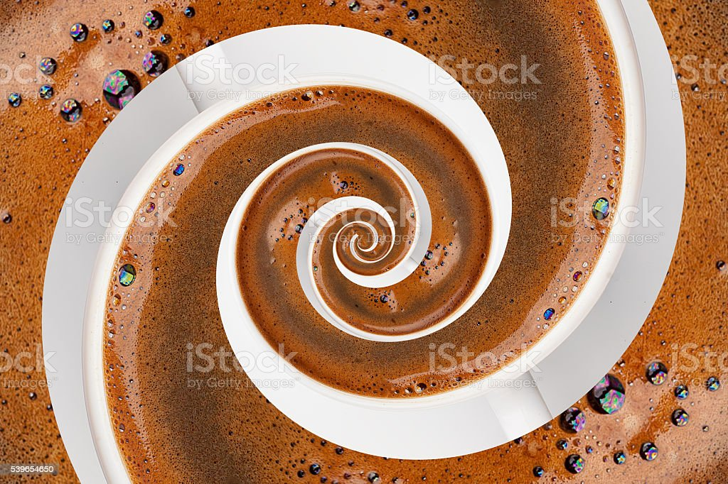 Abstract Caffeine Addiction Droste Effect. stock photo