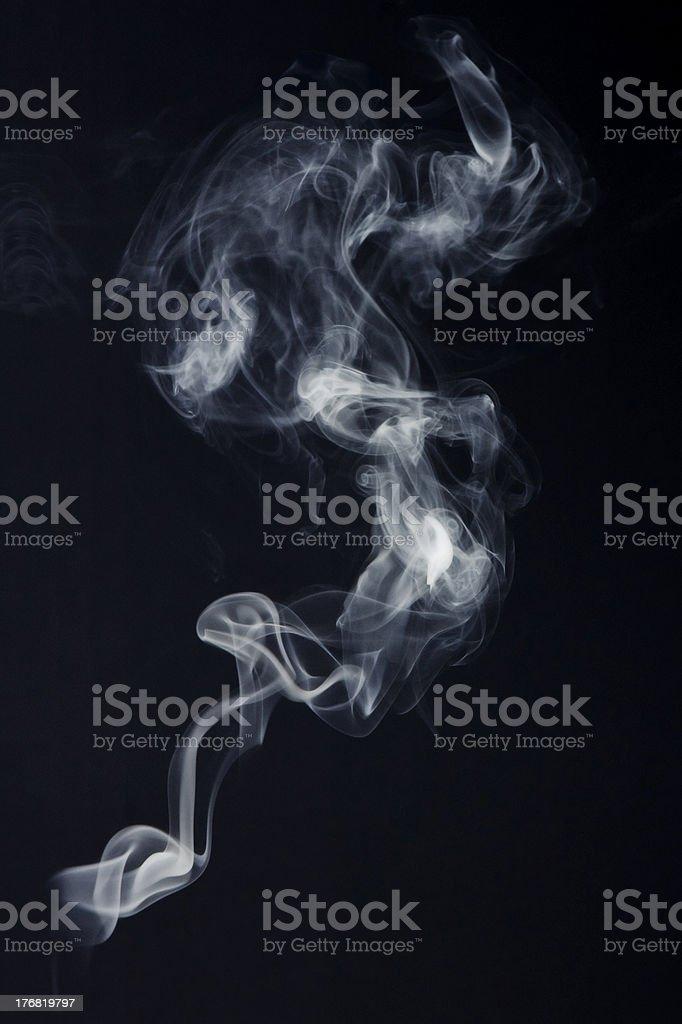 Abstract Candle Smoke stock photo
