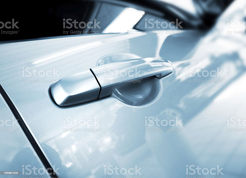 abstract car handle stock photo