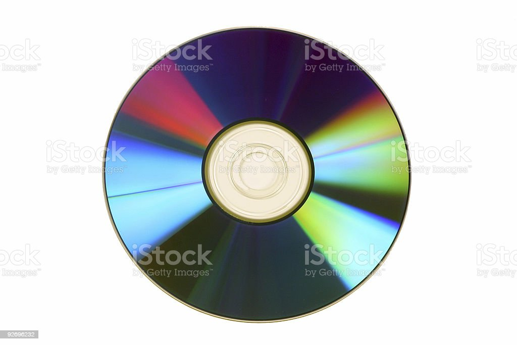 Abstract CD Compact Disk isolated on white. stock photo