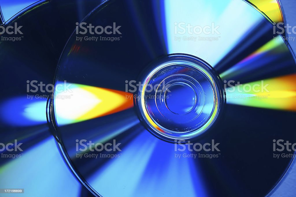 Abstract CD composition stock photo
