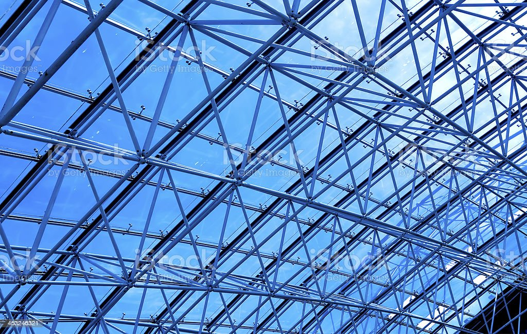 abstract ceiling indoor business hall royalty-free stock photo