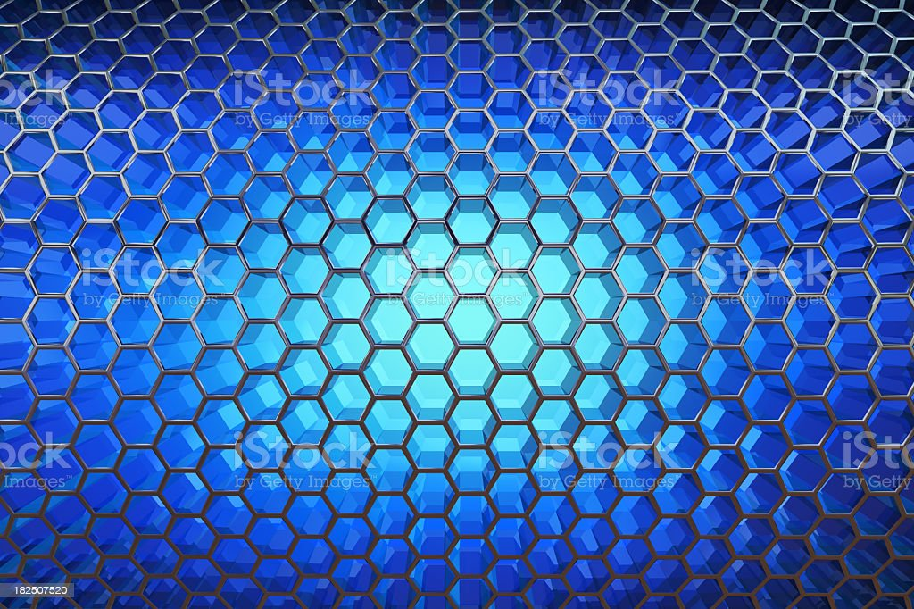 Abstract cell background. Blue royalty-free stock photo