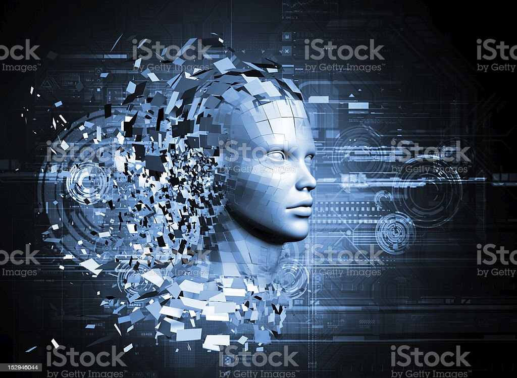 abstract character shattered into pieces royalty-free stock photo