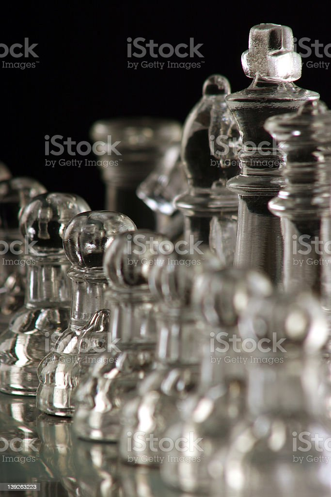 abstract Chess pieces royalty-free stock photo