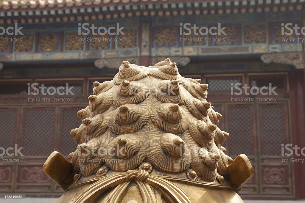 Abstract Chinese Dragon Statue royalty-free stock photo