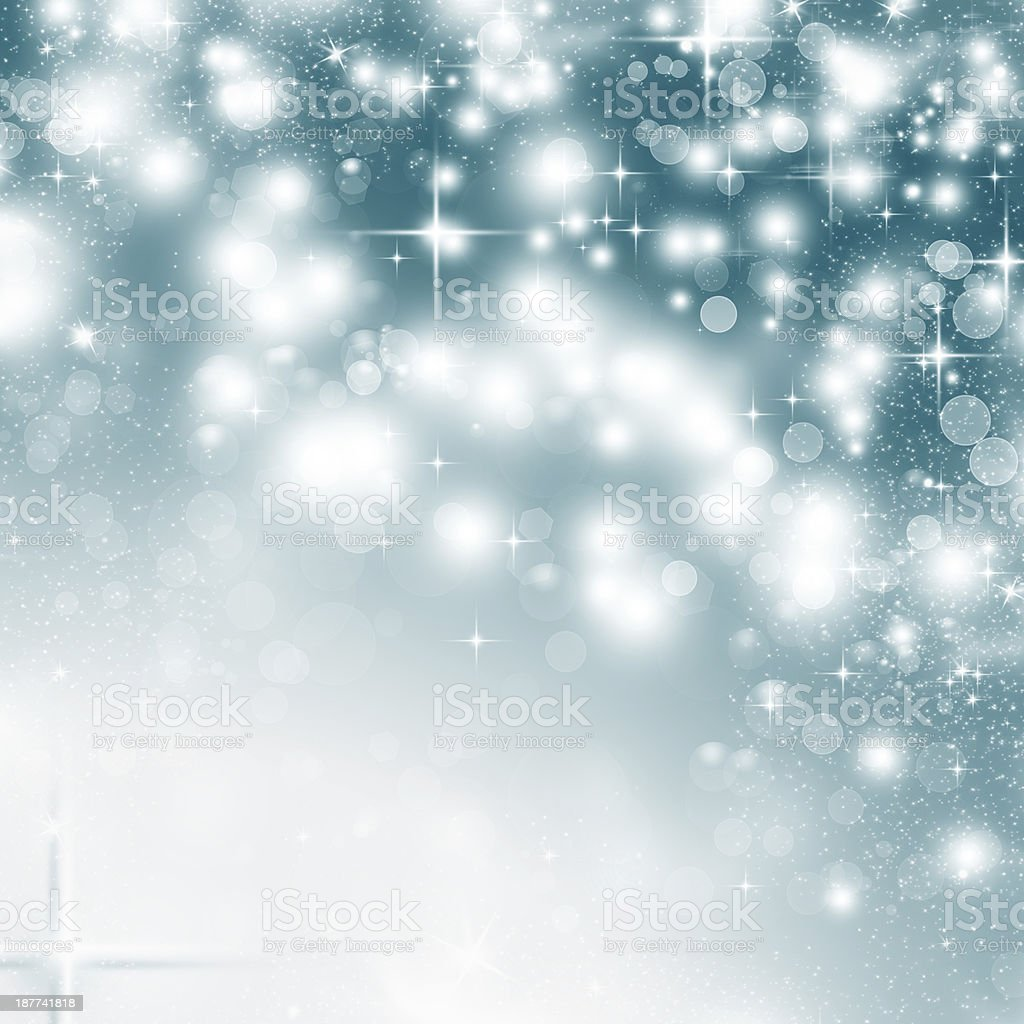 Abstract Christmas background of holiday lights royalty-free stock photo