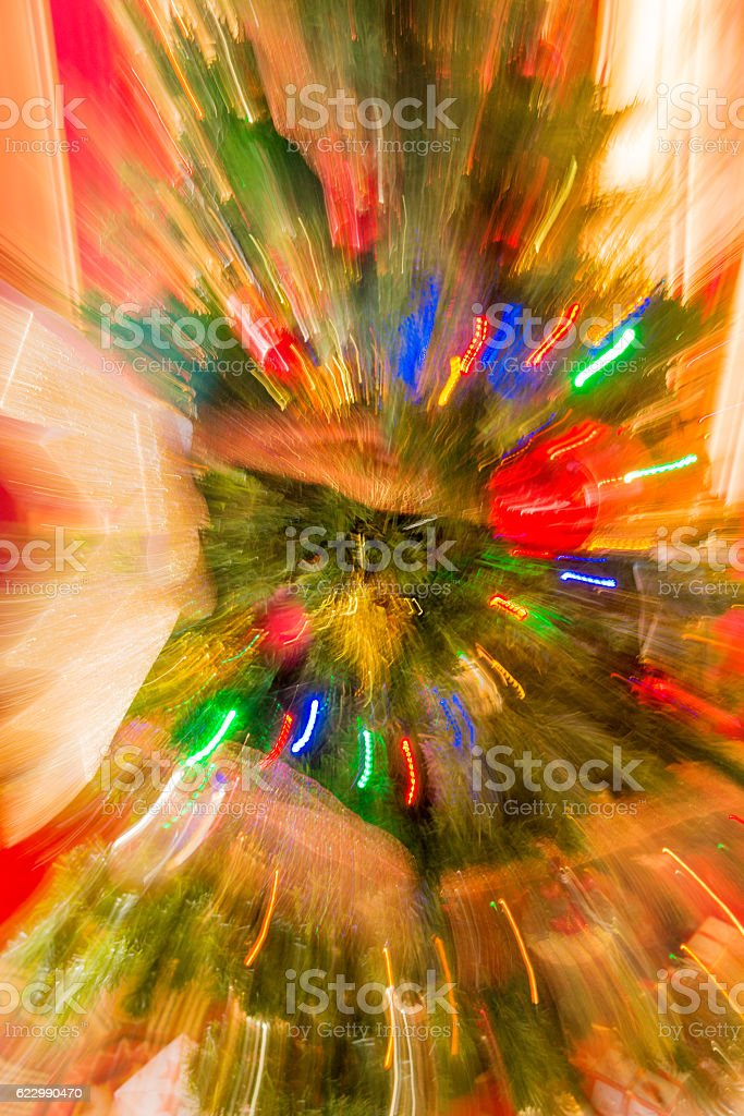 Abstract Christmas background with bokeh light stock photo
