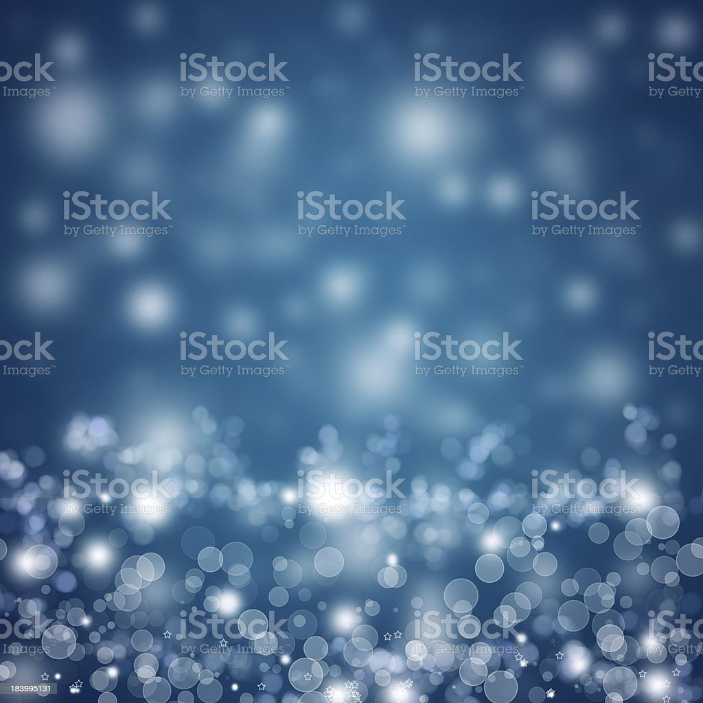 Abstract Christmas background with white shiny lights stock photo