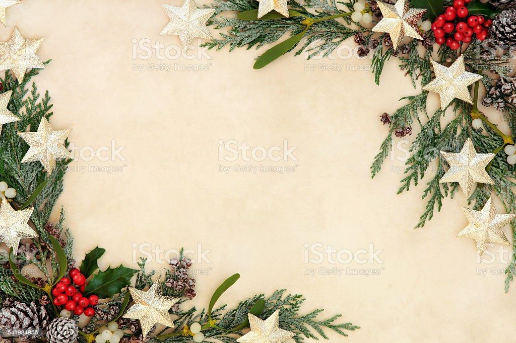Abstract Christmas Border stock photo