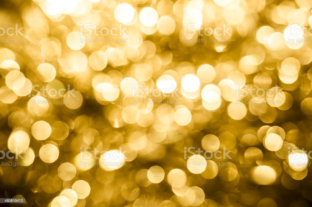 Abstract Christmas golden background stock photo