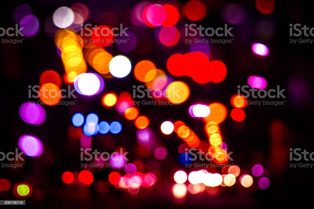 Abstract christmas lights as background stock photo