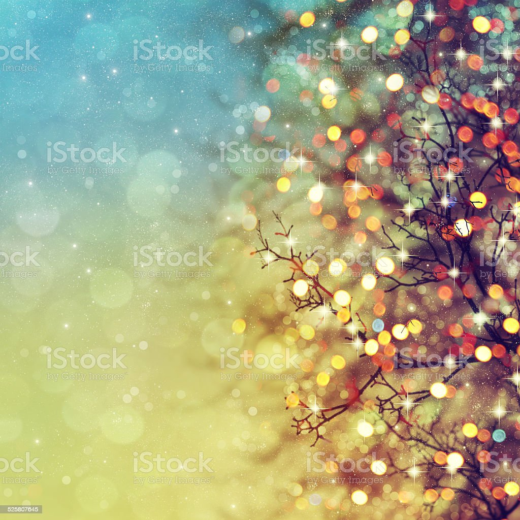 Abstract christmas lights on background. stock photo