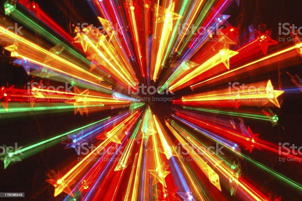 Abstract Christmas lights royalty-free stock photo