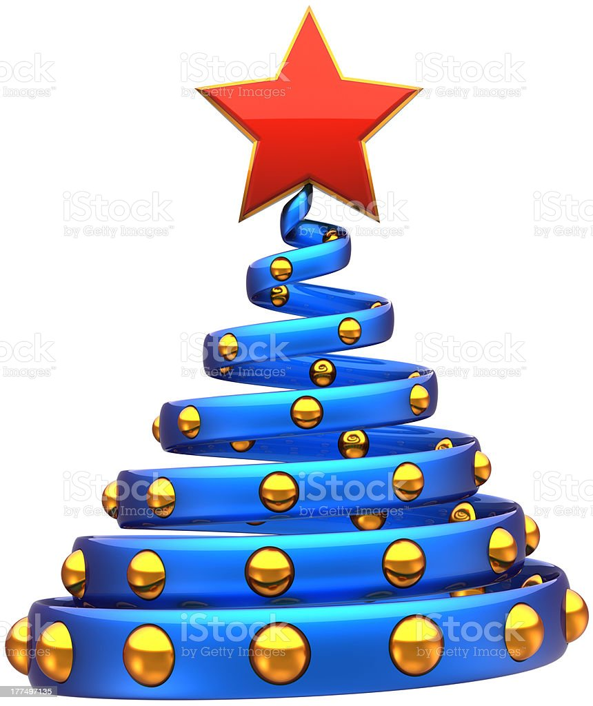 Abstract Christmas tree Happy New Year bauble wintertime symbol stock photo