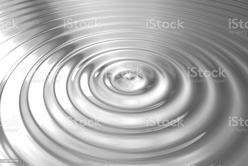 abstract circle in water BN royalty-free stock photo
