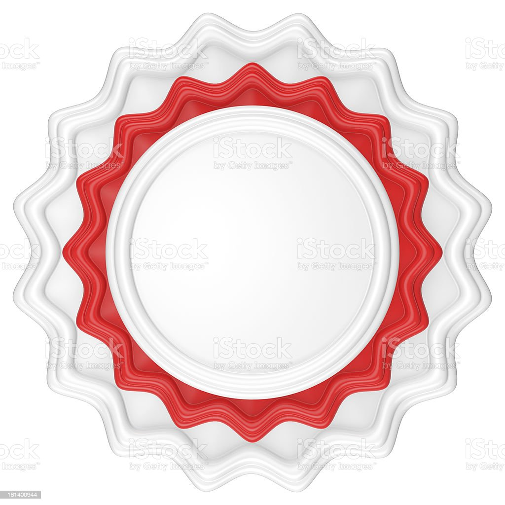 Abstract circle label. royalty-free stock photo