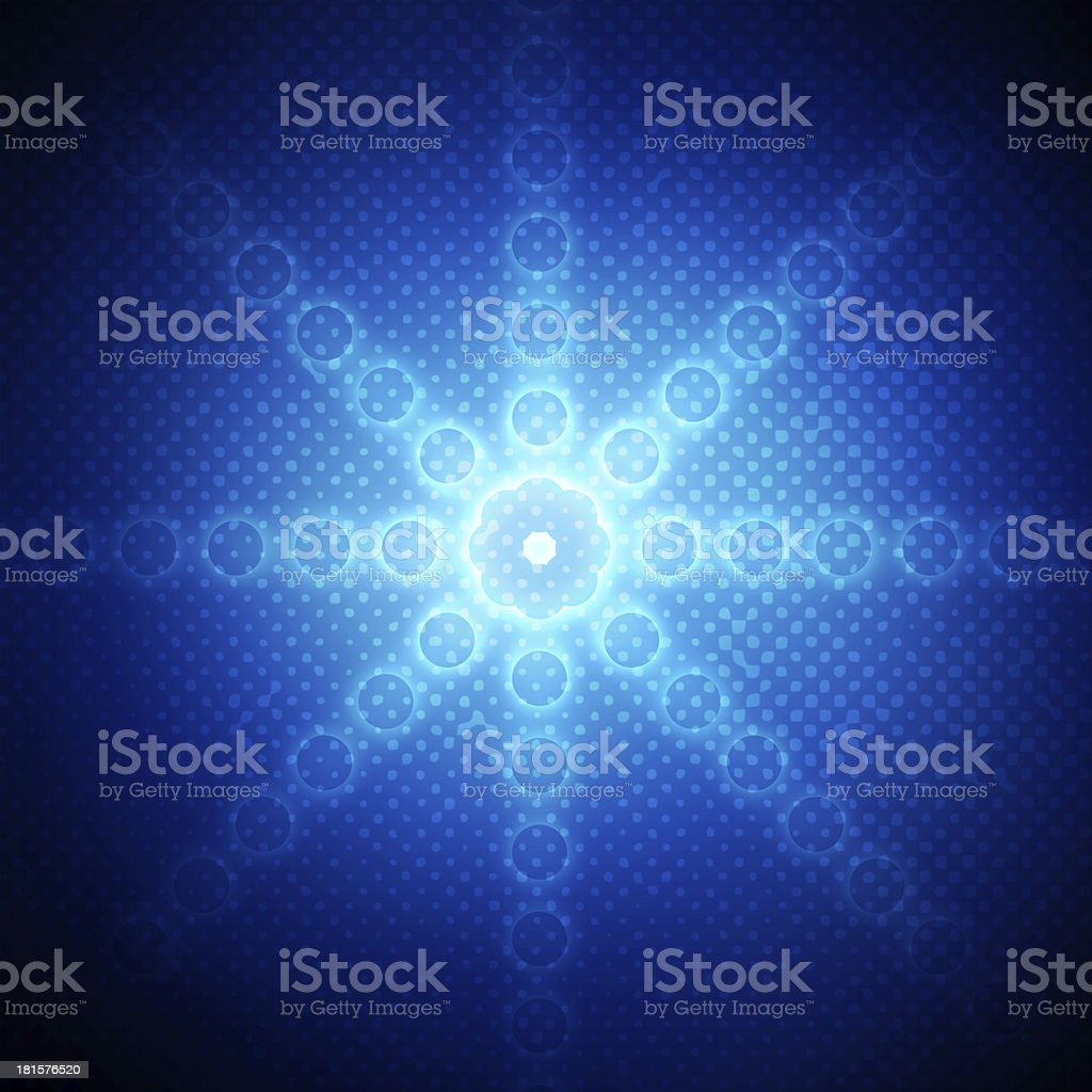 Abstract circles on blue background royalty-free stock photo