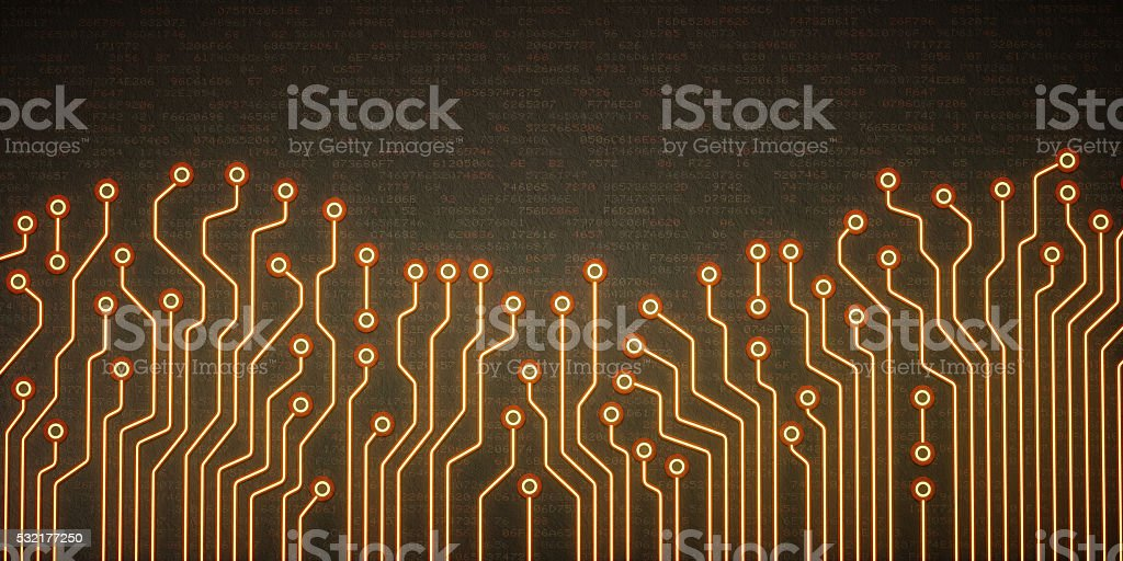 Abstract Circuit Lines Wallpaper stock photo