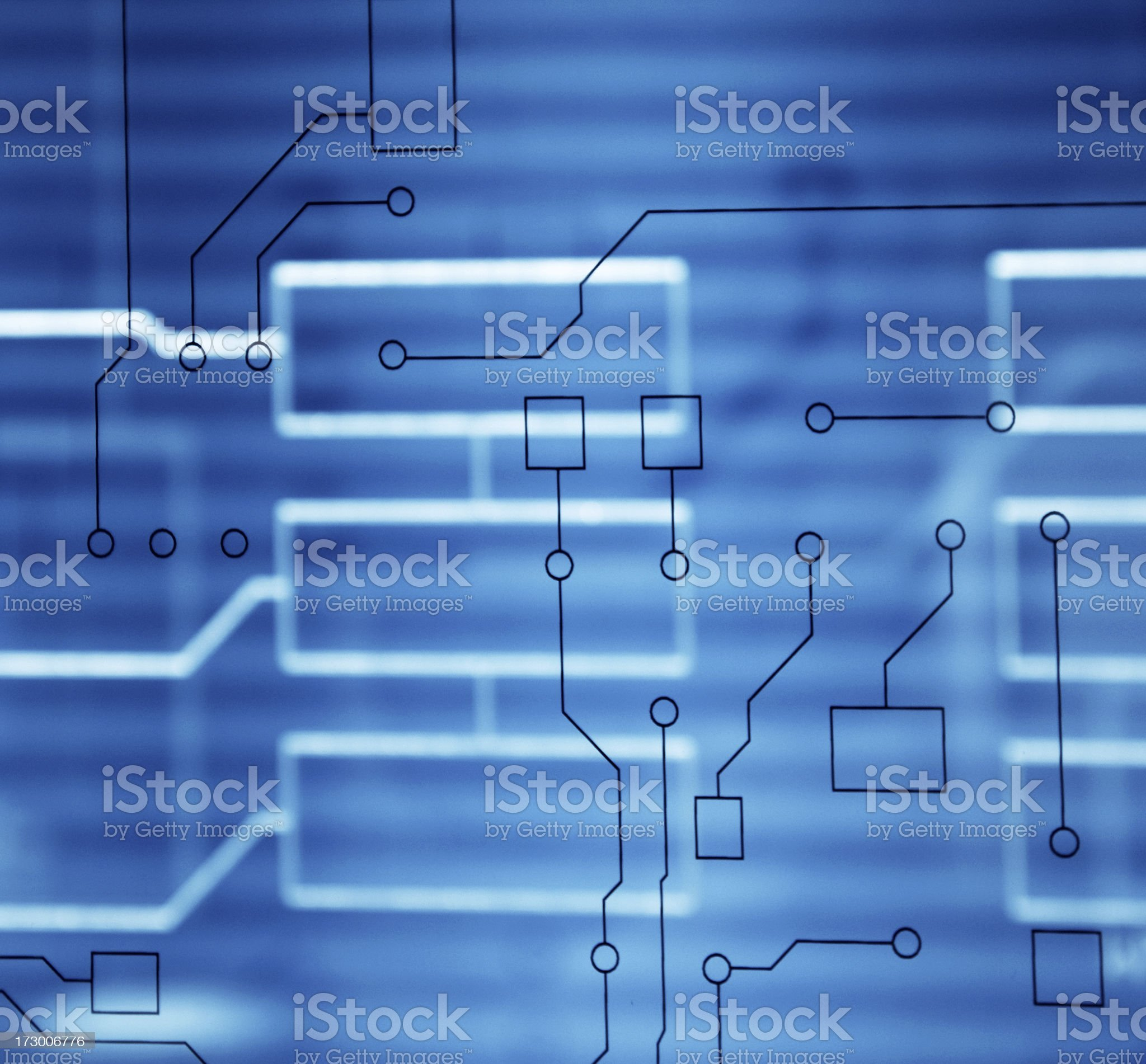 Abstract Circuit Pattern royalty-free stock photo