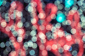 Abstract circular bokeh background against dark background