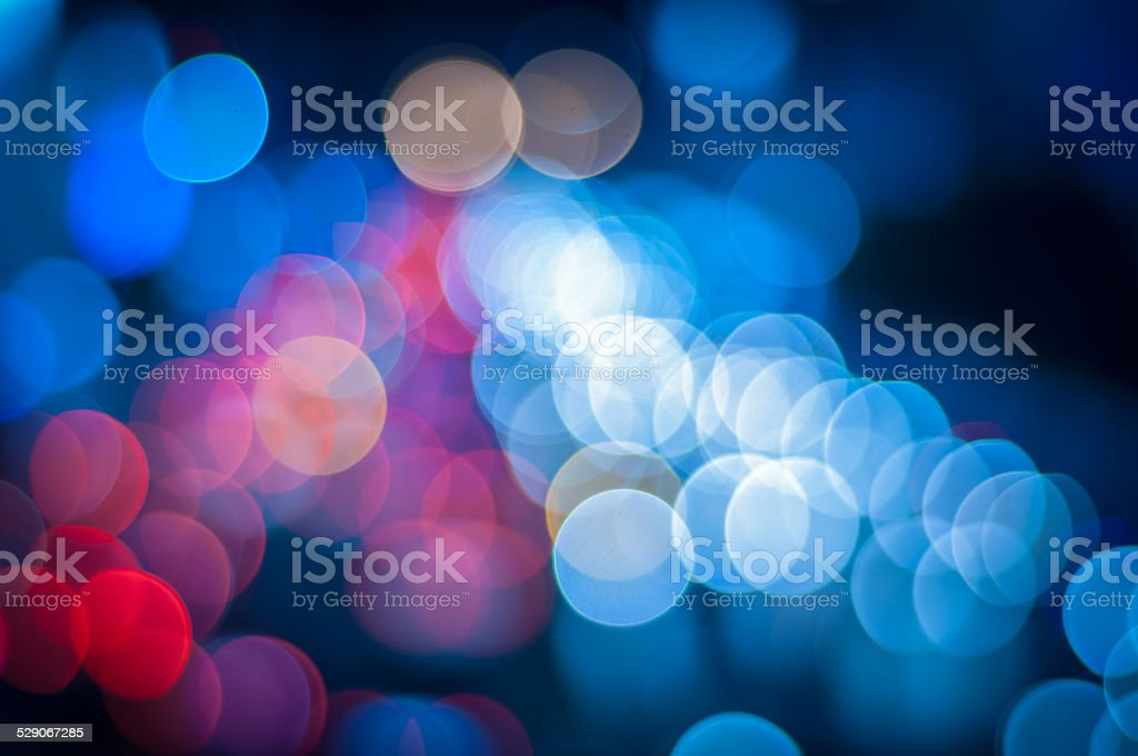 Abstract circular bokeh background of Christmaslight stock photo