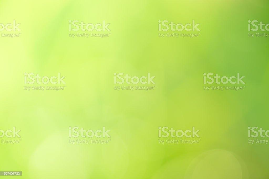 Abstract circular green bokeh background. stock photo