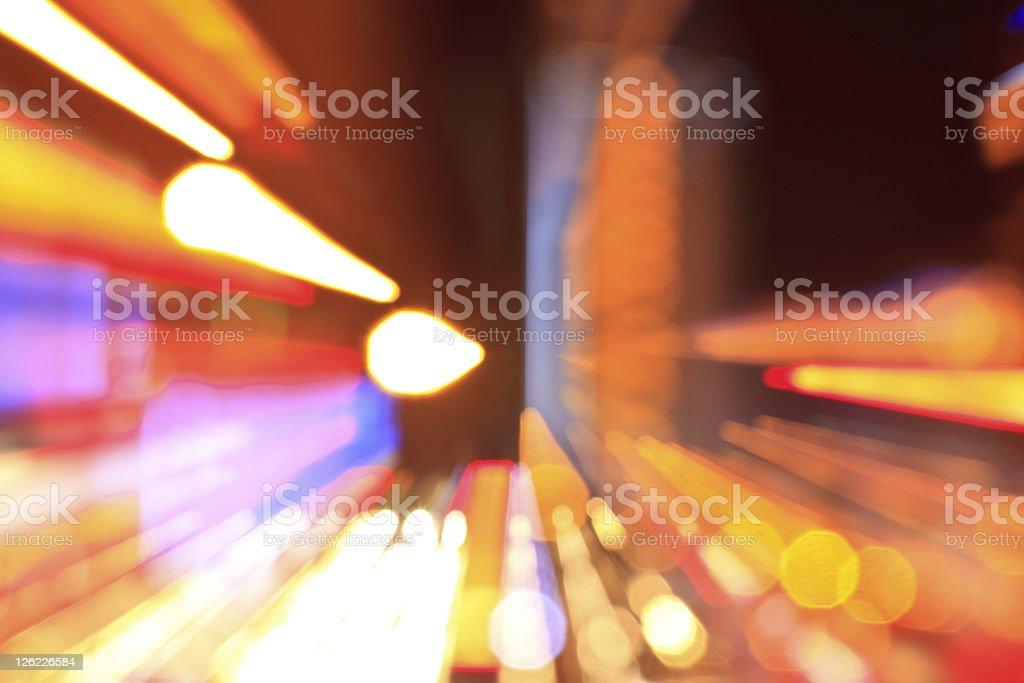 Abstract City Bokeh Nightscape royalty-free stock photo