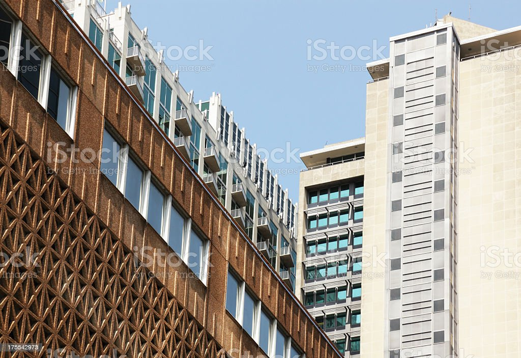 Abstract City Buildings royalty-free stock photo