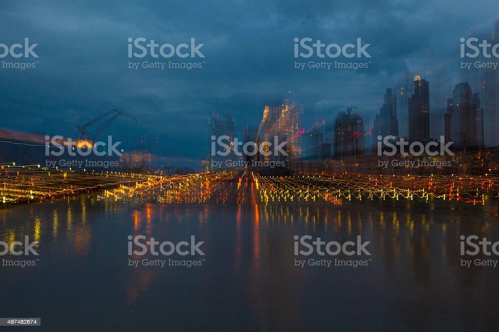 Abstract city stock photo