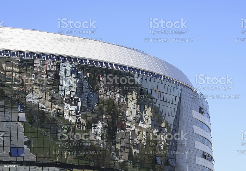 Abstract city reflection royalty-free stock photo