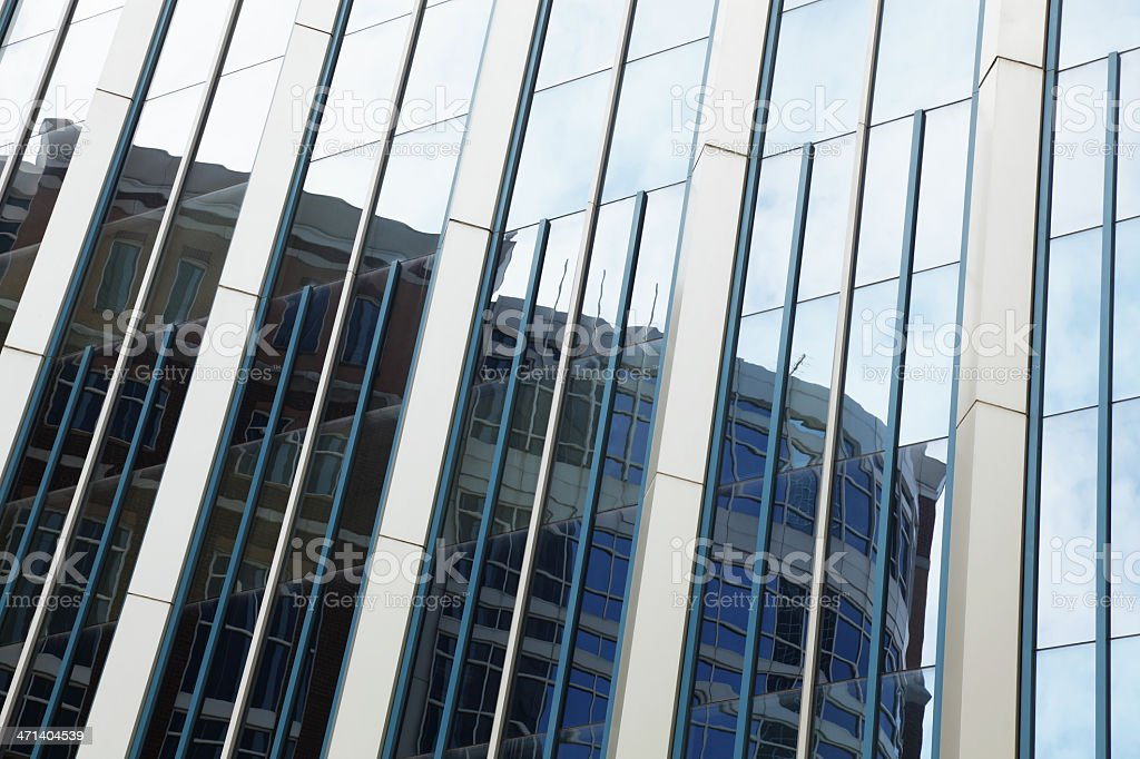 Abstract City Window Reflections royalty-free stock photo